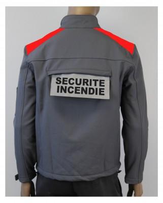 Vest soft shel grise bande rouge personnalisable galaxy Uniforme