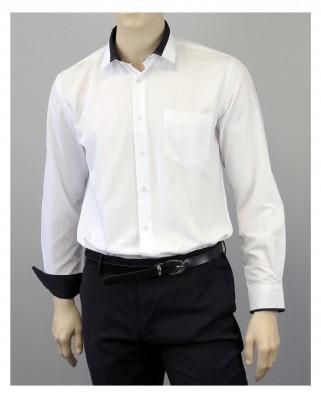Chemise blanche col propreté noir